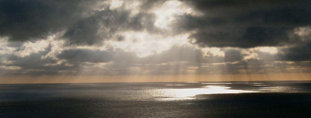 Weiter Blick vom Königsstuhl über die Ostsee
