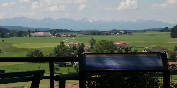 Bergpanorama entlang des Sachsenrieder Bähnles