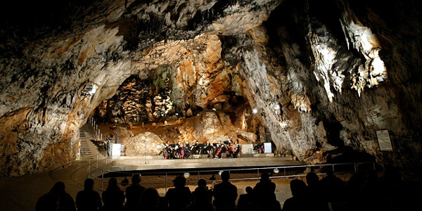 The concert hall in the cave