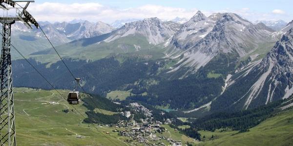 Die Aussicht vom Hörnli aufs Dorf