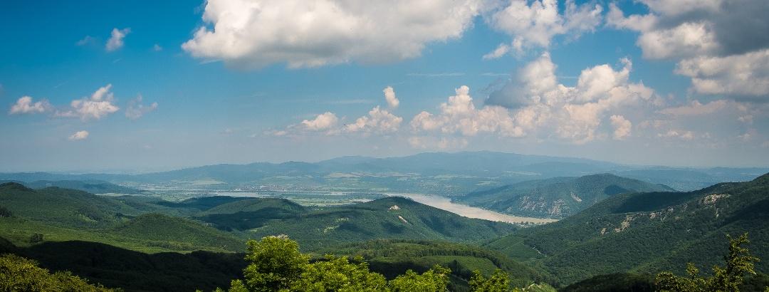 Ausblick im Sommer von Dobogókő