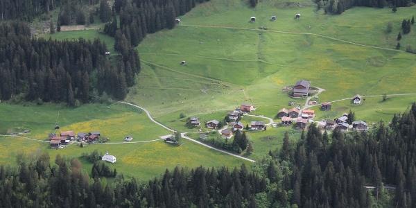 Cavorgia von der anderen Talseite