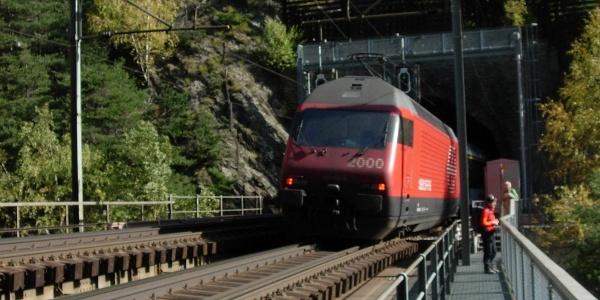 Auf dem Bietschtal-Viadukt