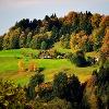 Aussicht auf Höfe in Wackersberg