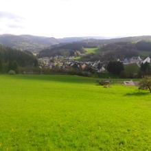 Blick auf den Start- und Zielort Wimbach
