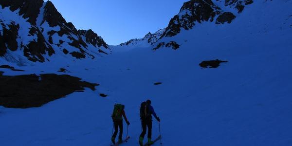 Der weite , breite Talboden im Anstieg