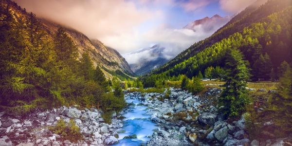 Saaser Vispa in the valley leading to Saas-Fee