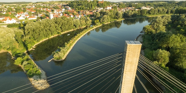 Die Donau in Bad Abbach