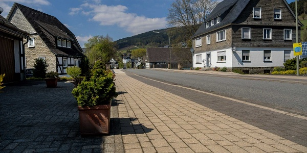 Hauptstraße in Fleckenberg