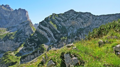 The Durmitor mountain range attracts many hikers in summer.
