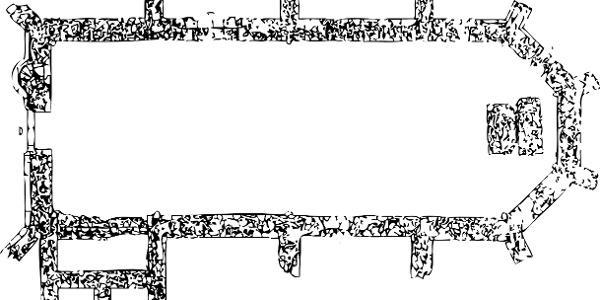 """Aufschlussreich: Den Grundriss des Klosters am Jostberg können die Archäologen bereits gut rekonstruieren. An der Westseite befand sich ein Eingang, gleich daneben eine enge Wendeltreppe. Am Ostende erkennt man noch den Altarsockel. Für das Mauerwerk wurde der sogenannte """"Osning-Sandstein"""" verwendet."""