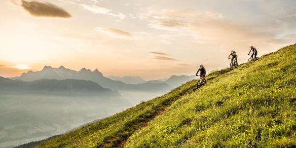 Tolle Stimmung auf den Trails in den Kitzbüheler Alpen