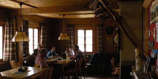 Gaststube der Neuen Reichenberger Hütte