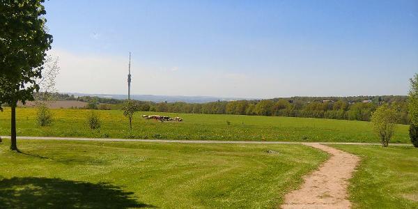 Blick von Gönnsdorf zum Turm