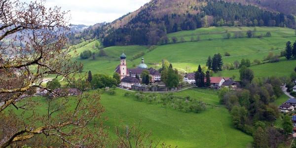Aussicht auf das Kloster St. Trudpert