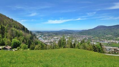 Hallein mit Blick Richtung Salzburg