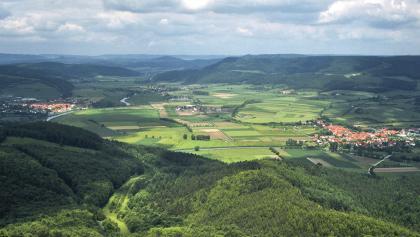 Blick ins Werratal bei Heldra vom Heldrastein