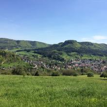 Blick auf Laufen und Gräbelesberg