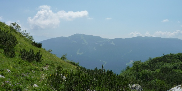 Going to Piz Galin with view at the Paganella