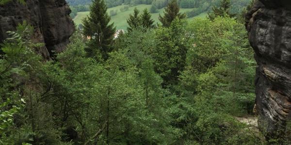 Ausblick vom Nadelöhr-Aufstieg