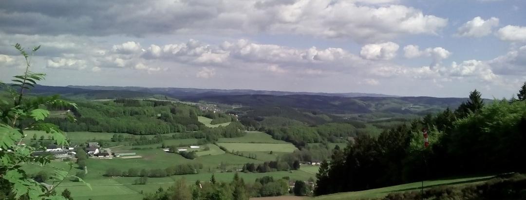 Blick auf die Ortschaften Reblin und Herscheid