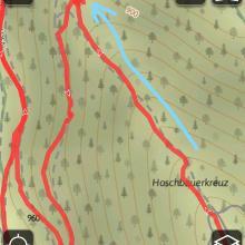 sehr steiles Stück  Ende des Mühlbachgraben