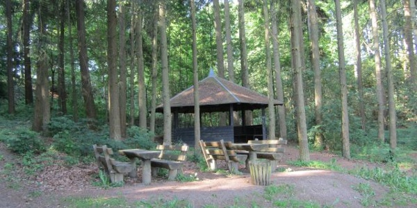 Rastplatz mit Schutzhütte am Ohmbachsee