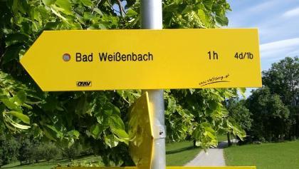 Abzweigung Richtung Bad Weißenbach 4d/1b