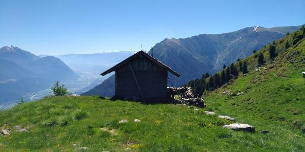 Blick Sonnkarkopf Hütte Richtung Osten