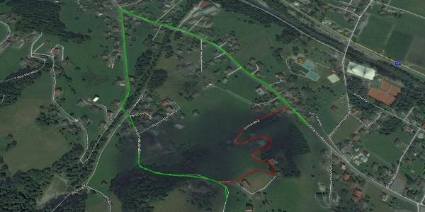 Tschagguns - Rot eingezeichnete Strecke nur am Renntag befahrbar!