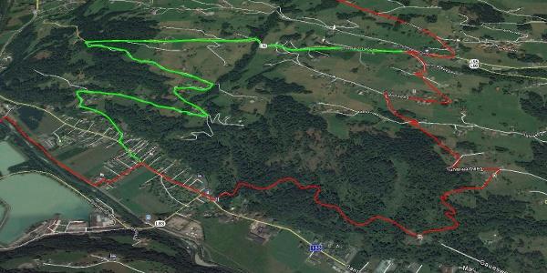 Bartholomäberg - Rot eingezeichnete Strecke nur am Renntag befahrbar!