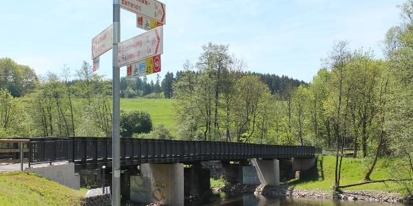 Neue Radbrücke Richtung Attendorn