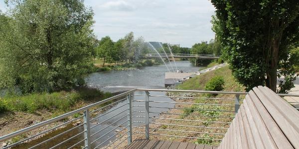 Neue Uferpromenade in Plettenberg