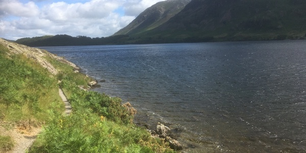 Path alongside Crummock Water