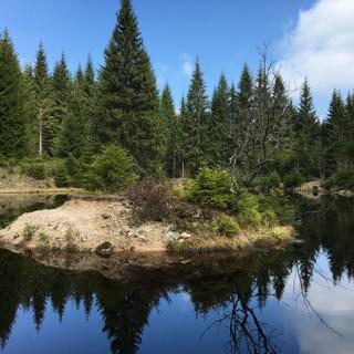 kleiner Bergsee auf 883m