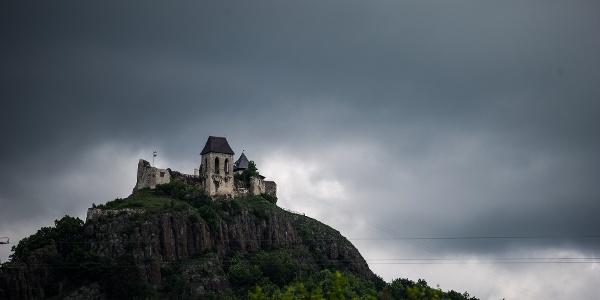Castle of Füzér before restoration
