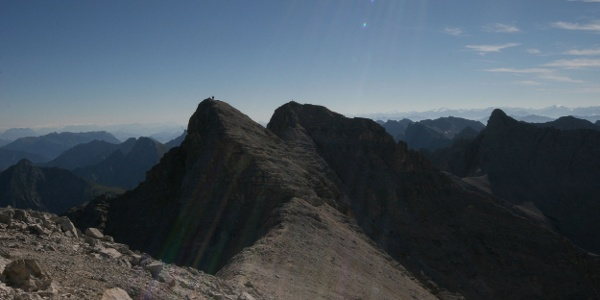 Blick über die östliche Ödkarspitze zur Birkkarspitze