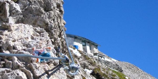 Spitzkofel-Klettersteig (B) vorbei an der Linder-Hütte (Biwakschachtel) zum Gipfel des Spitzkofel in den Lienzer Dolomiten