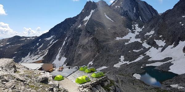 Stettiner Hütte im Juli 2017