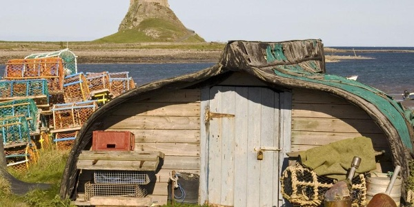 Views to Lindisfarne Castle