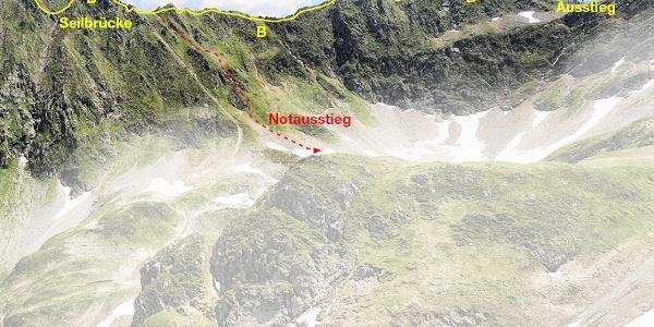 Klettersteig Hochjoch Variante 2