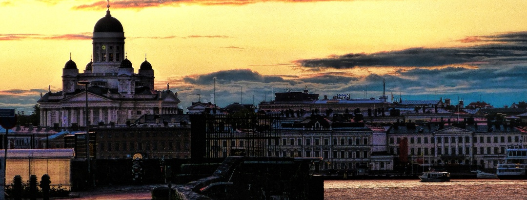 Helsinki Cathedral in the twilight