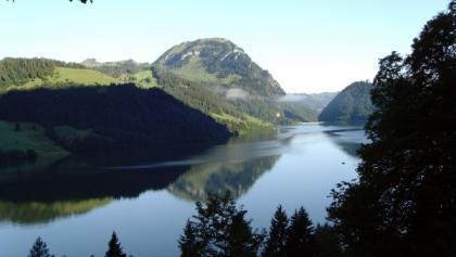Lake of Wägital and the Gross Aubrig