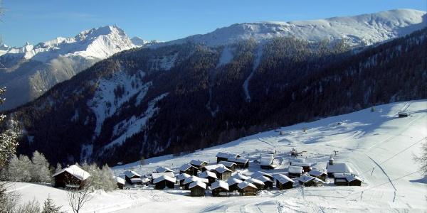Wintersportgebiet Obermutten