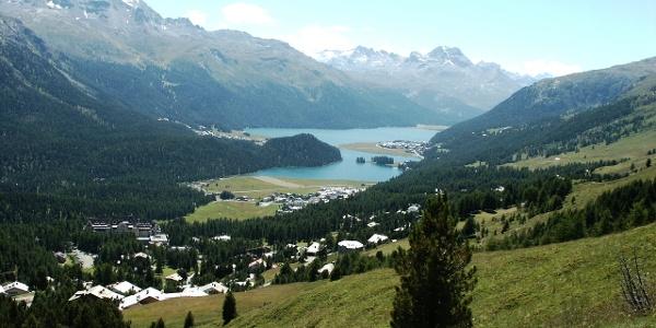 view of Lej da Champfèr and Lej da Silvaplauna