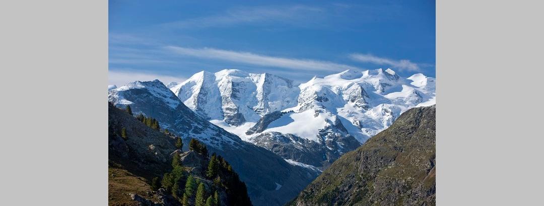 Aussicht auf die Bernina Gruppe