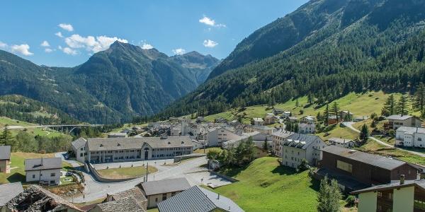 Blick auf Simplon Dorf
