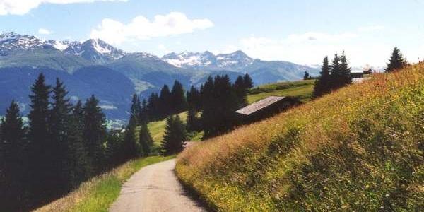Alpstrasse nach Cuolm da Vuorz