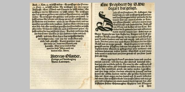 Flugschrift von Osiander, Nürnberg, 1527