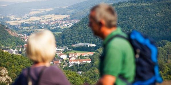 Blick von Schloss Dhaun ins Naheland